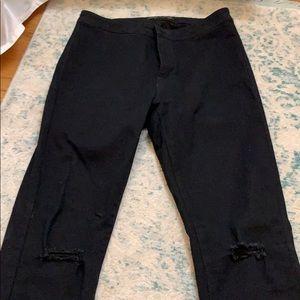 American Bazi black high waisted skinny jeans